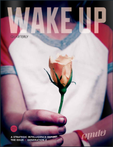 couverture de wake up (rapport stratégique d'Intel) sur la génération Z
