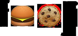 Fooji une commande de repas en emoticon